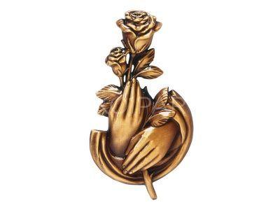Vezzani Rózsa kézben 18x10cm